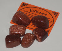 Goldstone Crystal Set of Tumbled Stones Smoothed and Polished - 2x3cm