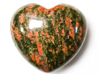 Unakite Crystal Heart Cut and Polished Mineral - 20mm