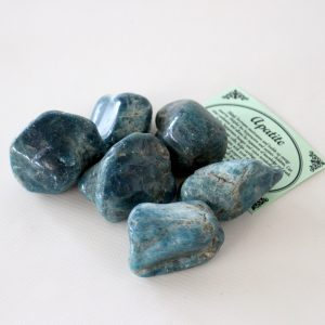 Apatite Crystal Set of 3 Tumbled Stones Smoothed and Polished - 2x3cm