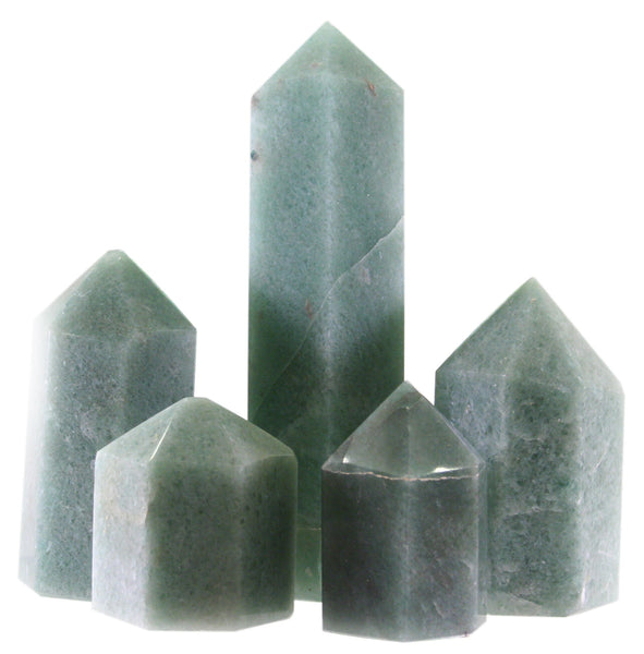 60mm Green Quartz Generator Single Point Cut and Polished From Brazil