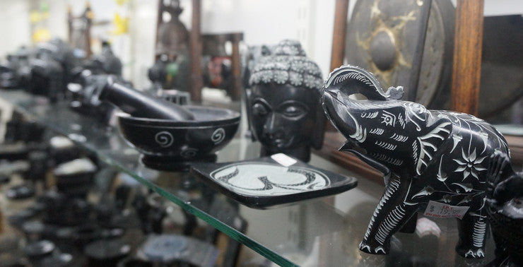 Beautiful hand-carved Soapstone Homewares from India
