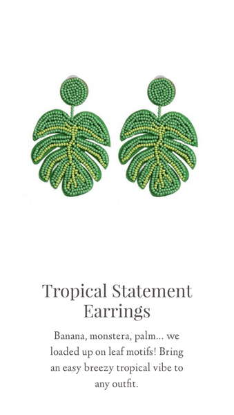 Tropical Statement Earrings