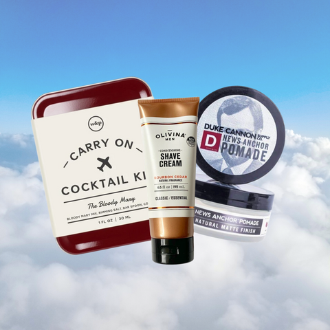 Gifts for Guys - Men's Grooming + Cocktail Kits