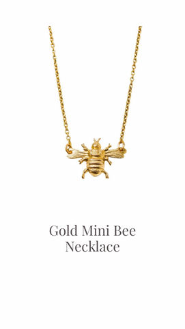 Gold Mini Bee Necklace - Larissa Loden