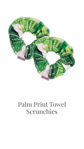 Palm Print Towel Scrunchies by KITSCH