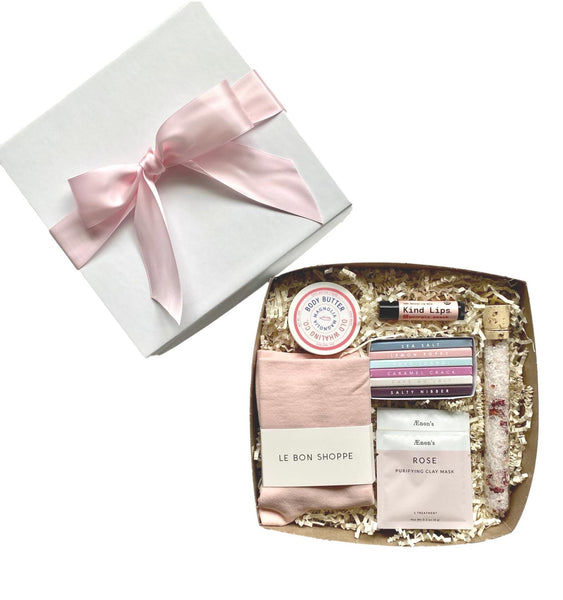 Giften Market Custom Gift Box - Pink Bow - Beauty Products