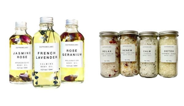 SopranoLabs Body Oil and Bath Salts - Giften Market