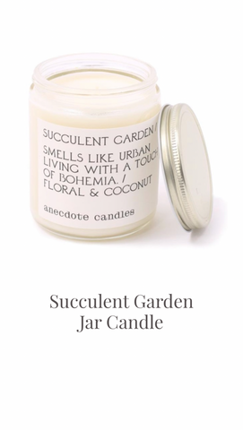 Succulent Garden Jar Candle by Anecdote Candles