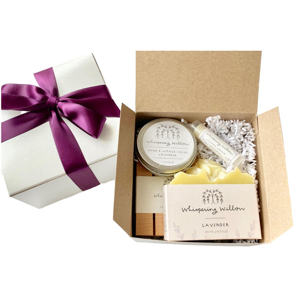 Whispering Willow Self-Care Gift Box - Lavender - Get Well Soon Gifts - Giften Market