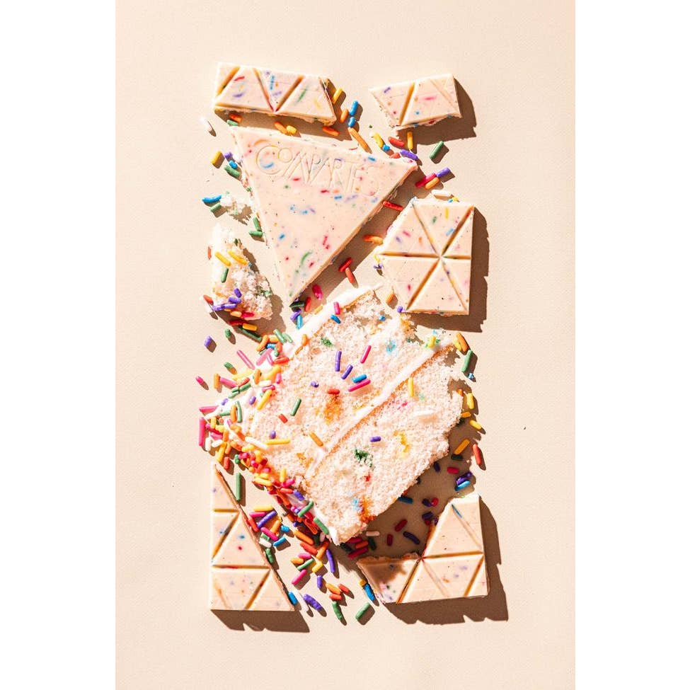 Cake and Sprinkles Birthday Treat Chocolate Bar - Giften Market
