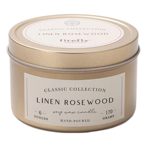 Linen Rosewood Soy Wax Candle
