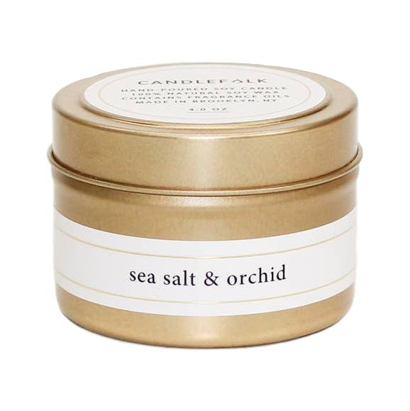 Sea Salt & Orchid - Gold Travel Candle - Giften Market