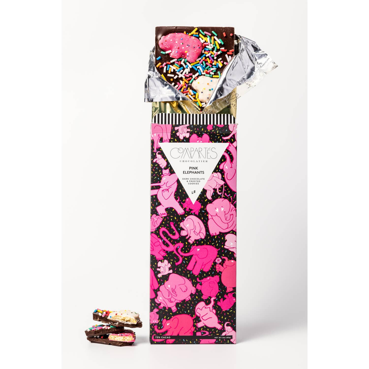 Compartes Animal Cookies Dark Chocolate Bar - Giften Market