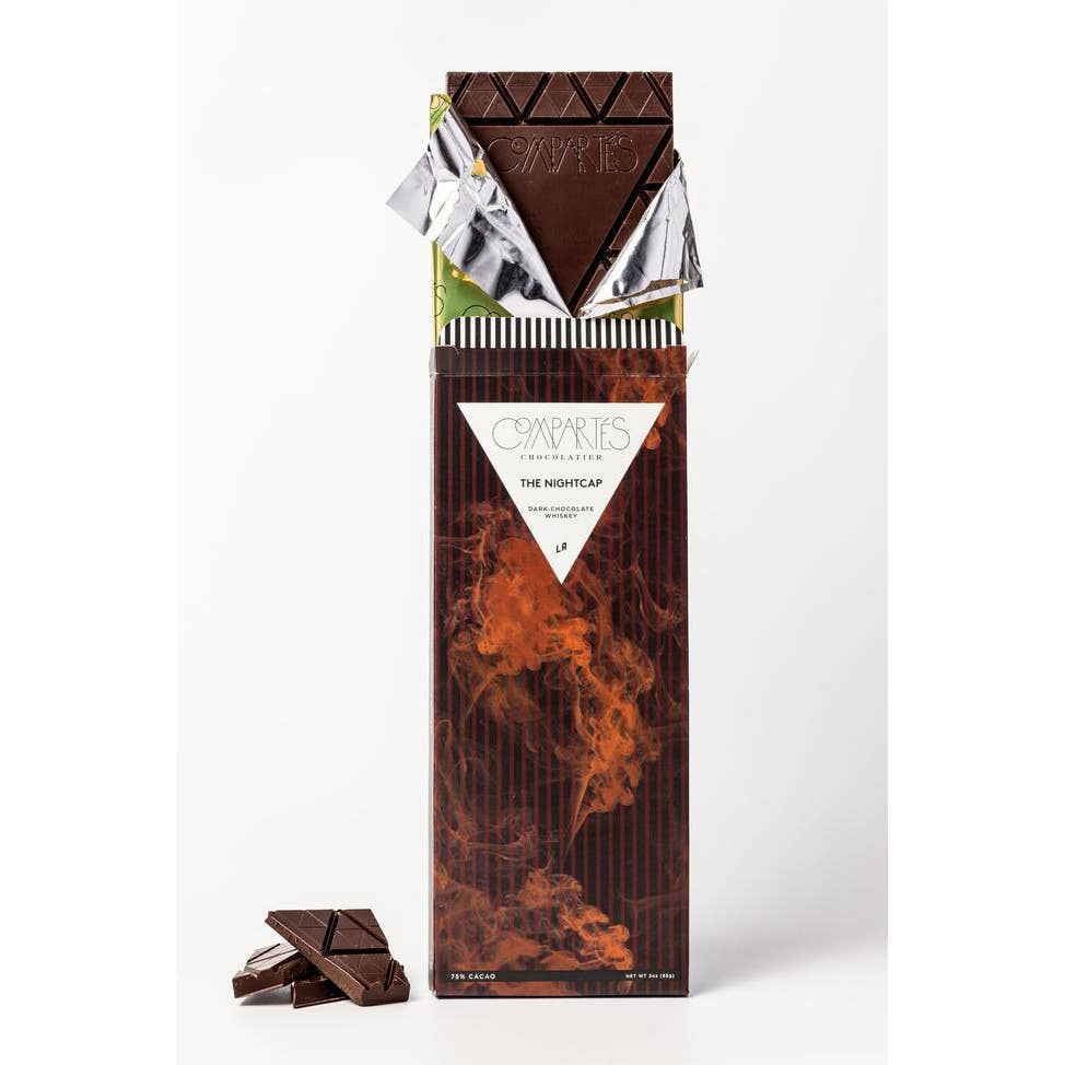Nightcap Whisky Dark Chocolate Bar - Comartes Chocolate