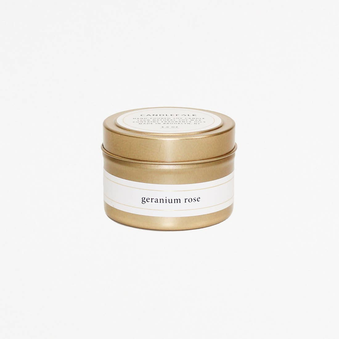 Geranium Rose - Gold Travel Candle - Giften Market