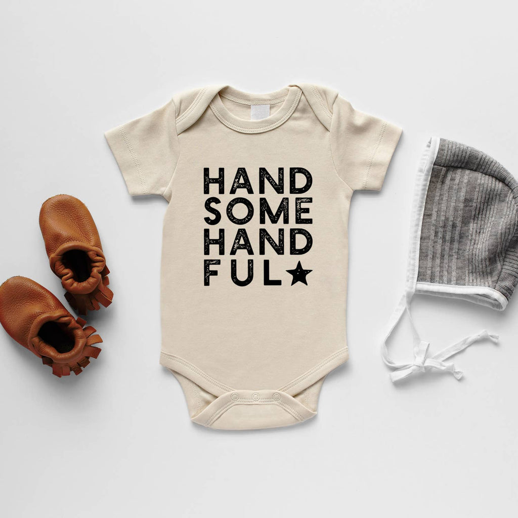Organic Baby Bodysuit - Handsome Handful
