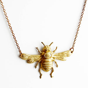 Gold Mini Bee Necklace - Giften Market