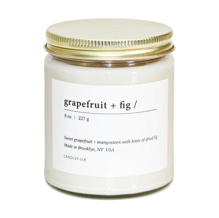 Grapefruit & Fig Soy Candle - Giften Market