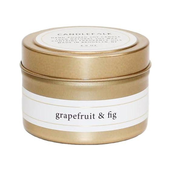Grapefruit & Fig - Gold Travel Candle - Giften Market
