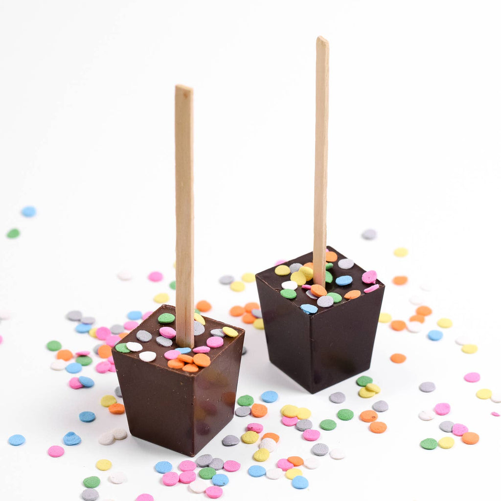 Ticket Chocolate Birthday Treats Hot Chocolate on a Stick