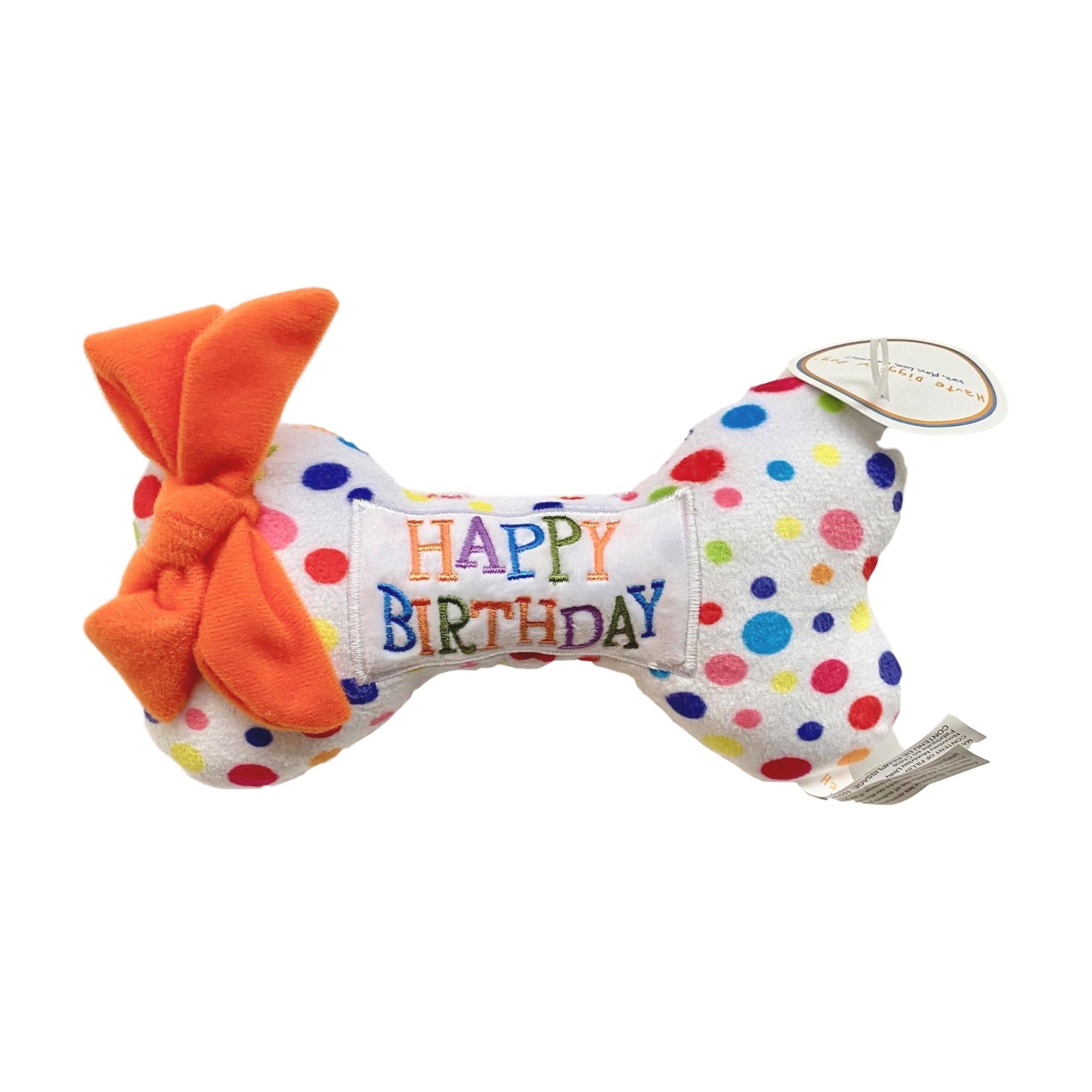Happy Birthday Bone Dog Toy - Giften Market