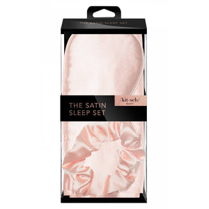 The Satin Sleep Set - Blush - Giften Market