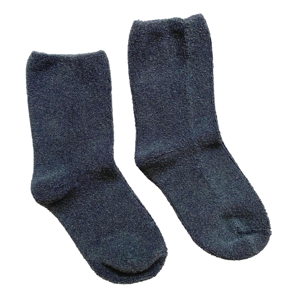 Women's Charcoal Cloud Socks - Cozy Terry - Giften Market