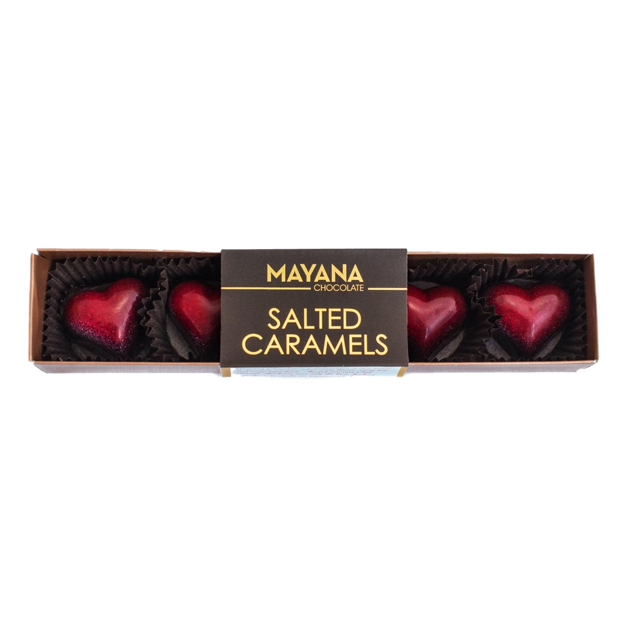 Mayana Chocolates Red Heart Salted Caramels - Giften Market