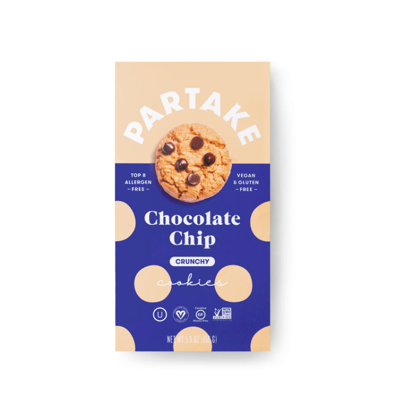 Partake Foods Crunchy Chocolate Chip Cookies - LG