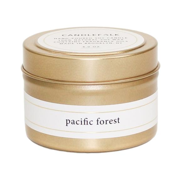 Candlefolk Pacific Forest Gold Travel Candle - Giften Market
