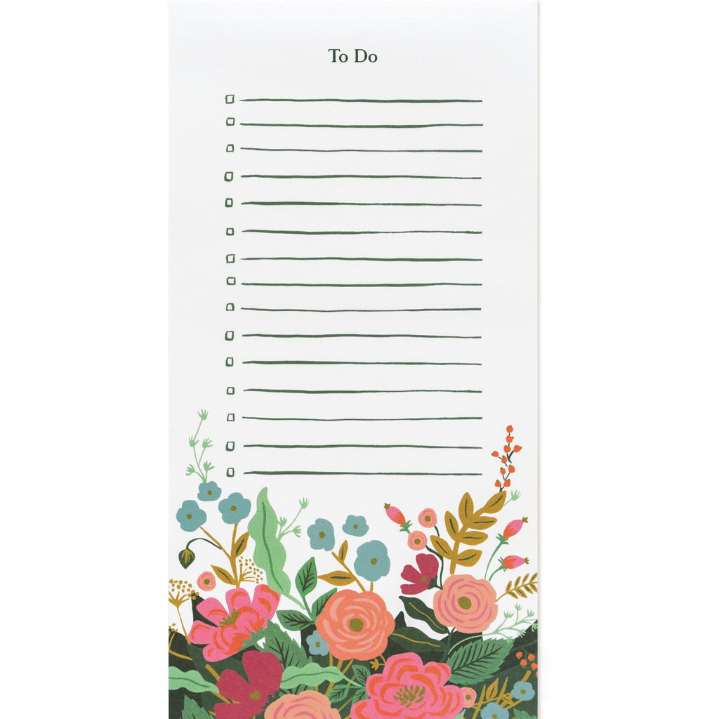 Rifle Paper Co. Floral Vines To-Do List - Giften Market