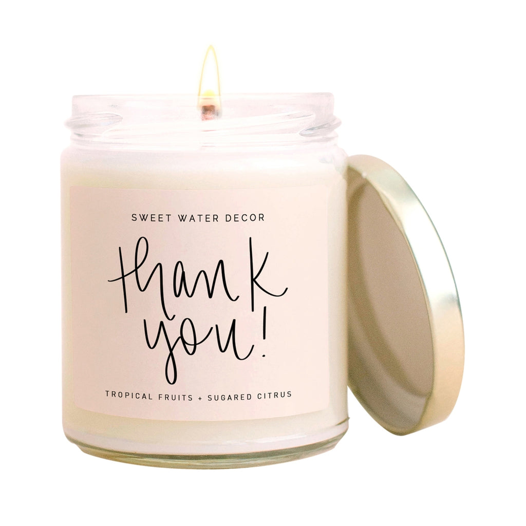 Sweet Water Decor Thank You! Candle