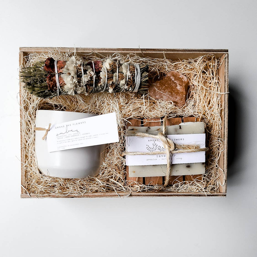 Sacred Spaces Gift Box Wooden Crate - Giften Market