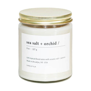 Sea Salt & Orchid Soy Candle - Giften Market