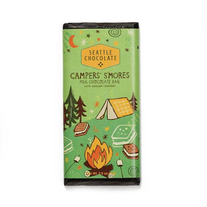 Seattle Chocolate Campers' S'mores Milk Chocolate Bar - Giften Market