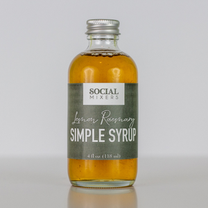 Lemon Rosemary Simple Syrup Cocktail Mixer