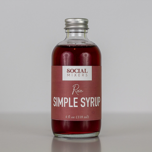 Social Mixers Rose Simple Syrup Cocktail Mix