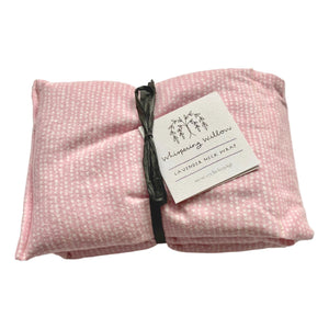 Whispering Willow Soothing Lavender Neck Wrap  - Pink Flannel