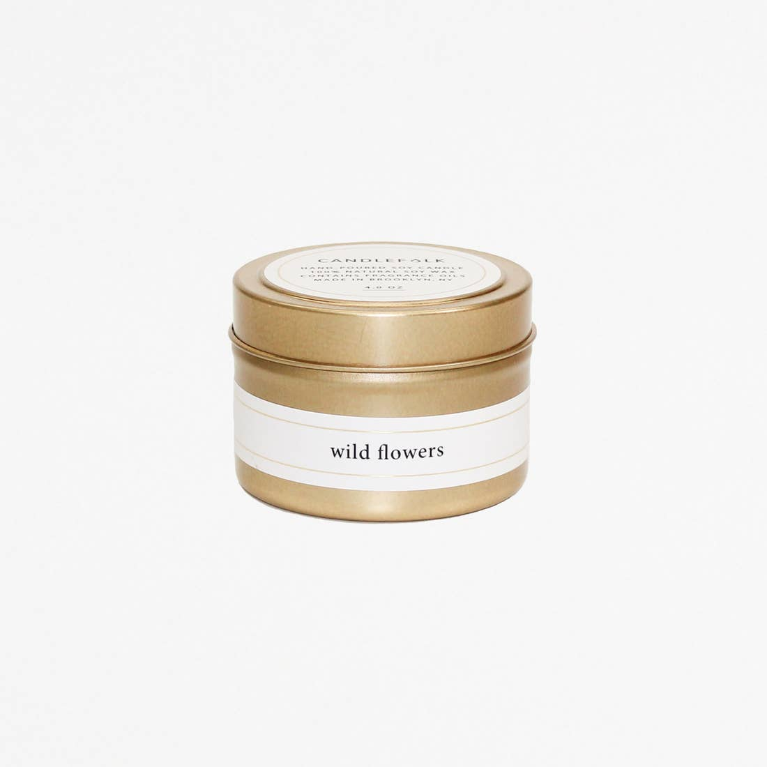 Wild Flowers - Gold Travel Candle - Giften Market
