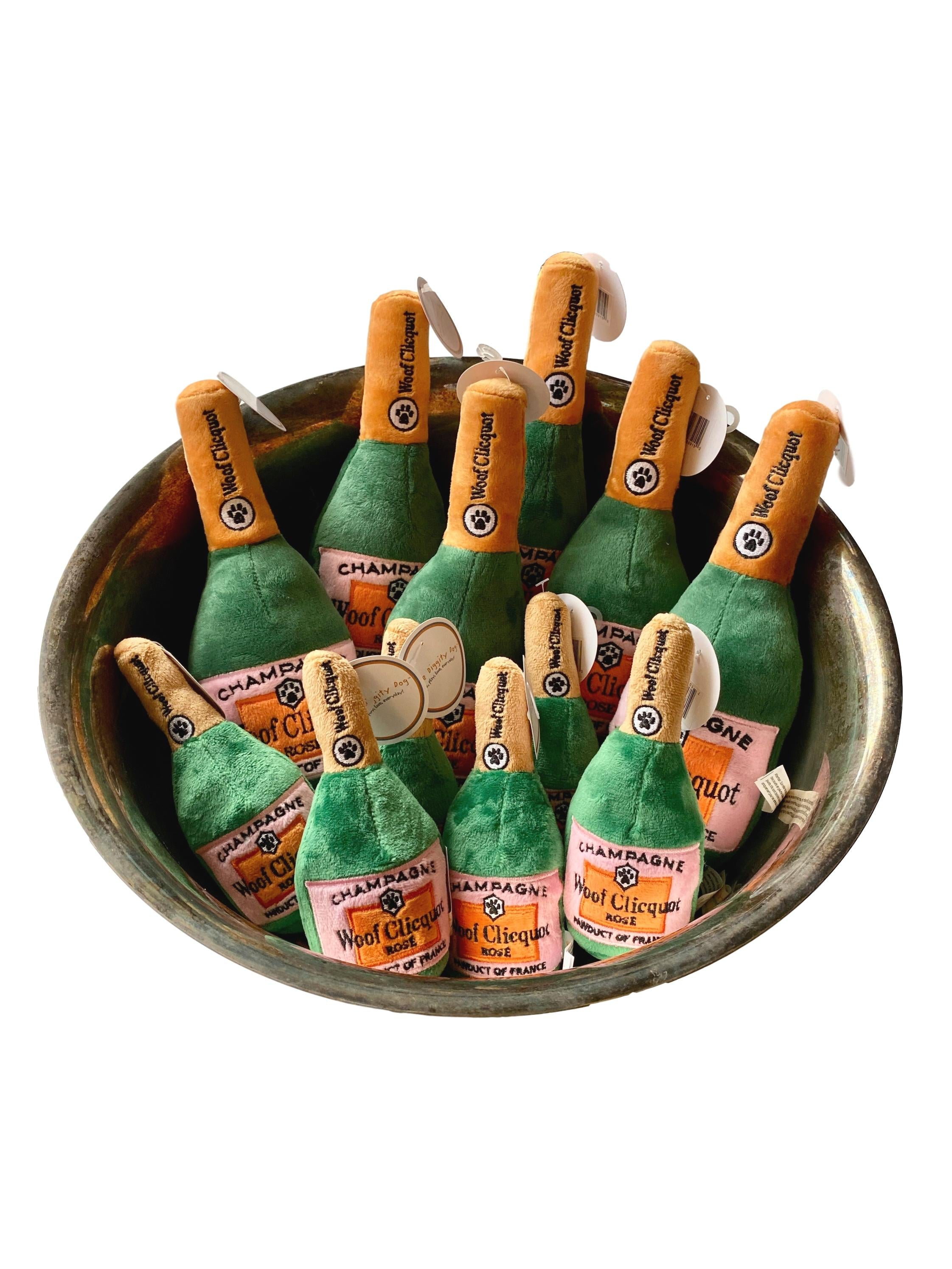 Woof Clicquot Rosé Champagne Bottle Dog Toy - Giften Market