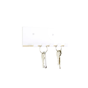 modern key hook white