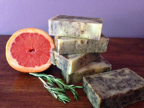 Creamy Shea Butter Soap - Pink Grapefruit & Rosemary