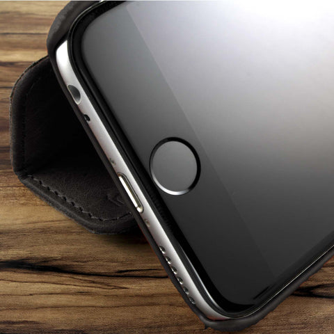 Duo Leather Case for iPhone 6/S - Black Nappa