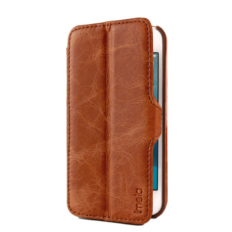 Duo Leather Case for iPhone SE / 5 / 5S - Cognac