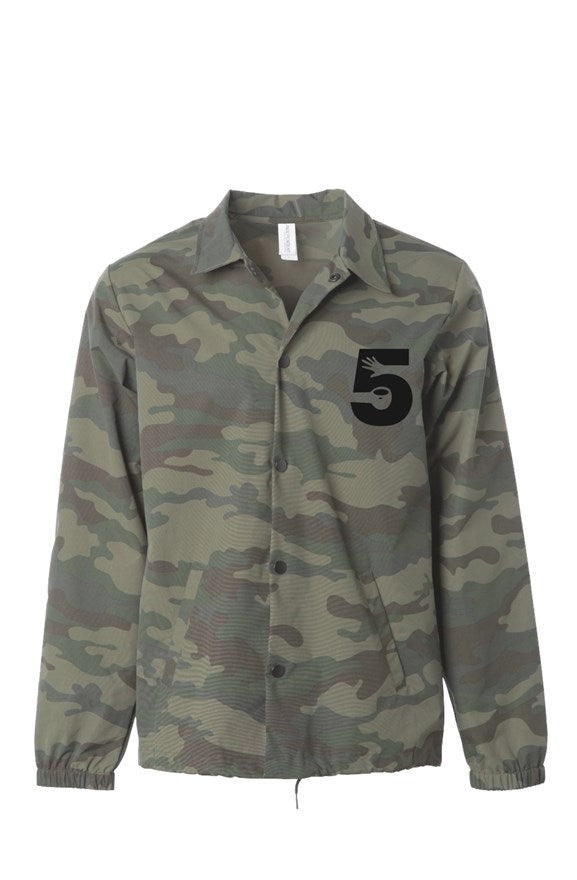 CamoCoach Coat w Embroidered Logo