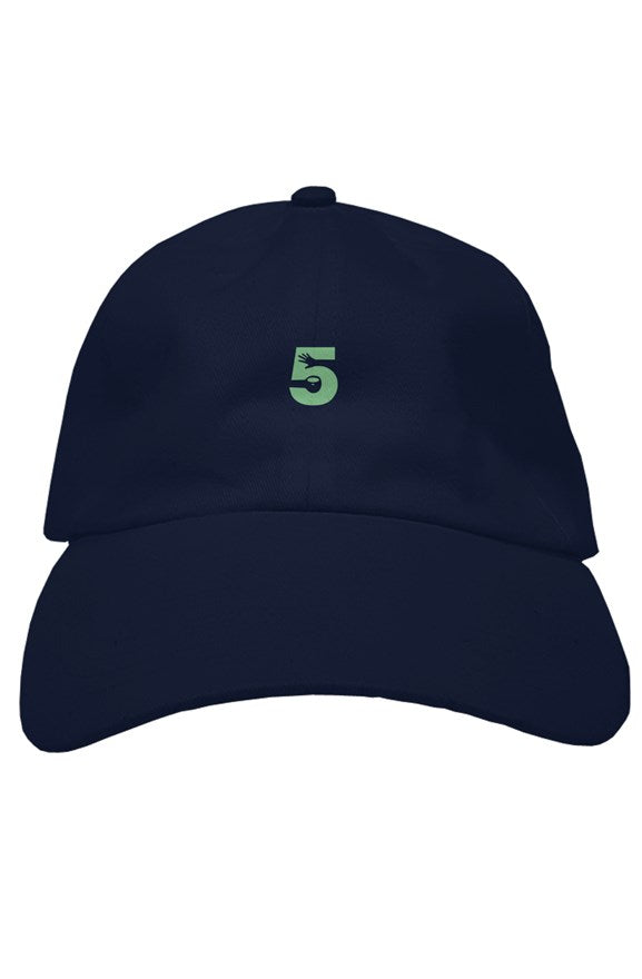 Navy Blue Dad Hat with Mint Green Logo