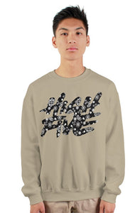 High Five BLK Bandana Cut & Sew Crew Neck