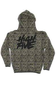 High Five Camo Cut-N-Sew W embroidered Sleeve Logo