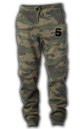 Camo Joggers w Embroidered Logo