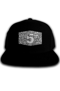 Cement Print Label Snapback